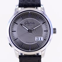 Glashütte Original Senator Panorama Date pre-owned 40mm Silver Panorama date Leather
