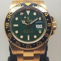 Rolex GMT-Master II Or jaune 40mm Vert Sans chiffres France, LYON - Tassin La Demi Lune