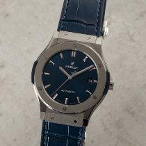 Hublot Classic Fusion Blue подержанные 45mm Синий Дата Кожа