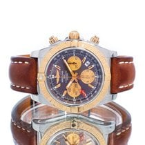 Breitling Chronomat 44 GMT occasion 44mm Brun Chronographe Date Cuir