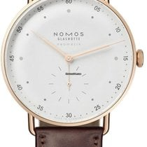 NOMOS Rose gold Automatic White 38.5mm new Metro Neomatik