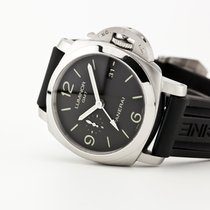 Panerai Acero Automático Negro Arábigos 44mm usados Luminor 1950 3 Days GMT Automatic