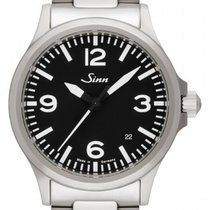 Sinn new Automatic Central seconds Luminous hands Screw-Down Crown Luminous indices 38.5mm Steel Sapphire crystal