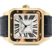 Cartier W20071Y1 Желтое золото 2009 Santos 100 38mm подержанные