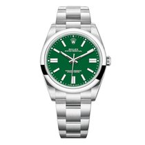Rolex Oyster Perpetual Steel 41mm Green No numerals UAE, Dubai