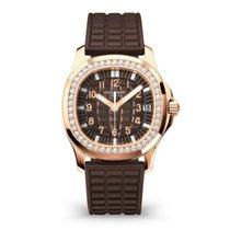 Patek Philippe Rose gold Automatic Brown Arabic numerals 35.6mm new Aquanaut