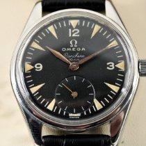 Omega Stahl 36mm Schwarz Arabisch