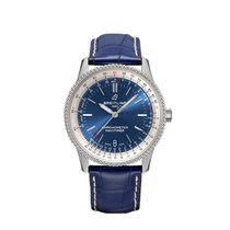 Breitling Navitimer Steel 38mm Blue No numerals United States of America, New York, New York