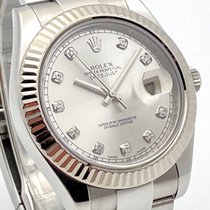 Rolex Silver Automatic Silver No numerals 41mm pre-owned Datejust II