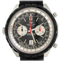 Breitling Chrono-Matic (submodel) pre-owned 48mm Black Chronograph Date Leather