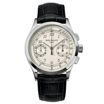 Patek Philippe Chronograph White gold 39mm Silver Arabic numerals United States of America, New York, New York