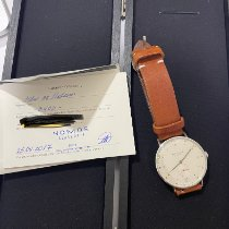 NOMOS Metro 38 Datum pre-owned 38mm White Date Leather