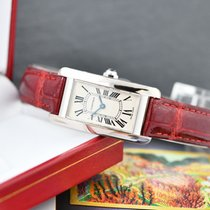 Cartier Tank Américaine White gold 19mm White Roman numerals Singapore