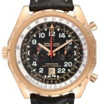 Breitling Chrono-Matic (submodel) pre-owned 45mm Black Chronograph Tachymeter Leather