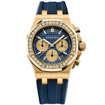 Audemars Piguet Yellow gold Automatic Blue 37mm new Royal Oak Offshore Lady