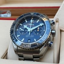 Omega Titanio Automático Azul Sin cifras 45,5mm nuevo Seamaster Planet Ocean Chronograph