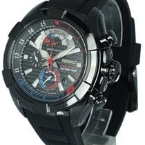 Seiko Velatura Chronograph Steel 48mm Black