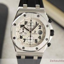 Audemars Piguet Royal Oak Offshore Chronograph gebraucht 42mm Weiß Chronograph Datum Kautschuk