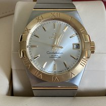 Omega Constellation Men Gold/Steel 38mm Silver Roman numerals United Kingdom, Hayling Island
