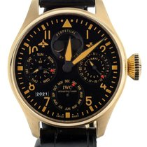 IWC Rose gold Automatic Black 46mm pre-owned Big Pilot