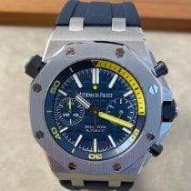 Audemars Piguet Royal Oak Offshore Diver Chronograph Staal 42mm Blauw Geen cijfers