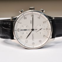 IWC Portuguese Chronograph Or blanc 41mm Blanc Belgique, Antwerp