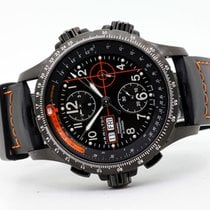 Hamilton Khaki X-Wind pre-owned 45mm Black Chronograph Date Weekday Rubber