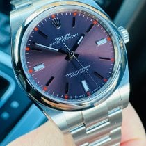 Rolex Oyster Perpetual 39 Steel 39mm Purple No numerals