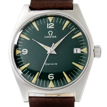 Omega Genève Steel 35mm Green Arabic numerals United States of America, Utah, Draper