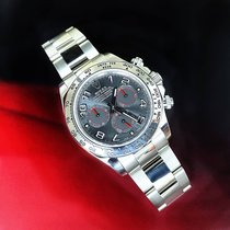 Rolex Or blanc Remontage automatique Noir Arabes 40mm occasion Daytona