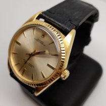 Rolex Yellow gold Automatic Champagne No numerals 36mm pre-owned Oyster Perpetual 36