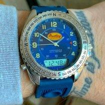 Breitling Pluton Steel 41mm Blue Arabic numerals