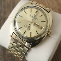 Omega Constellation pre-owned 35mm Gold Date Gold/Steel