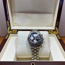 Breitling Colt Chronograph Staal 38mm Zwart Geen cijfers Nederland, herwijnen