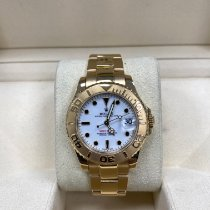 Rolex Yacht-Master pre-owned 35mm White Date Yellow gold