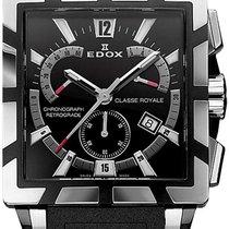 Edox Classe Royale nuevo Cuarzo Cronógrafo Reloj con estuche y documentos originales 01504 357N NIN