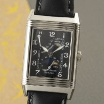 Jaeger-LeCoultre White gold Manual winding Black 36.5mm pre-owned Reverso (submodel)