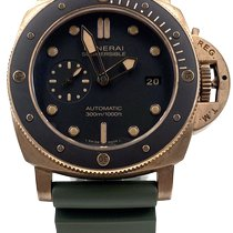 Panerai Luminor Submersible Brons 47mm Brun Inga siffror