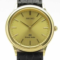 Seiko Yellow gold Quartz Champagne 34mm pre-owned Grand Seiko