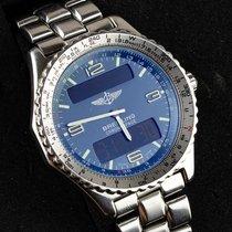 Breitling Chronospace Stahl 43mm Blau Arabisch