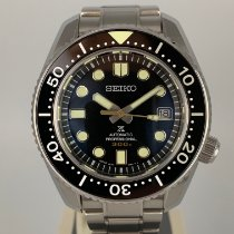 Seiko Marinemaster Steel 44.3mm Black No numerals