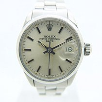 Rolex Oyster Perpetual Lady Date 6519 Good Steel 26mm Automatic