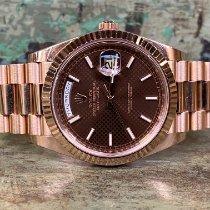 Rolex Day-Date 40 Roségoud 40mm Bruin Romeins Nederland, Goor