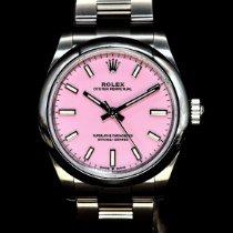 勞力士 Oyster Perpetual 31 鋼 31mm 粉紅色 無數字