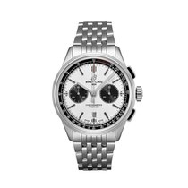 Breitling Steel 42mm White No numerals United States of America, New York, New York