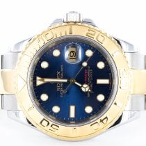Rolex Yacht-Master 40 Gold/Steel 40mm Blue No numerals