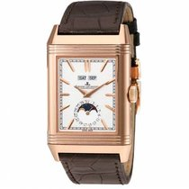 Jaeger-LeCoultre Reverso (submodel) Rose gold 49.7mm Silver No numerals