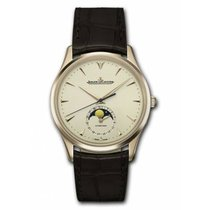 Jaeger-LeCoultre Master Ultra Thin Moon Rose gold 39mm Mother of pearl No numerals