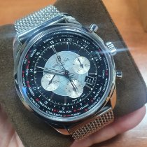 Breitling Transocean Chronograph GMT Steel 43mm Black