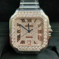 Cartier Santos (submodel) Steel 39.8mm Pink Roman numerals United States of America, New York, New York